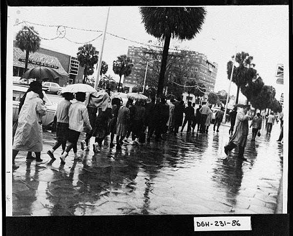 Civil rights protest march in Southwest Georgia, undated, Digital Library of Georgia